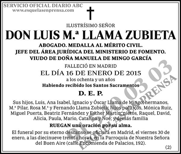 Luis M.ª Llama Zubieta